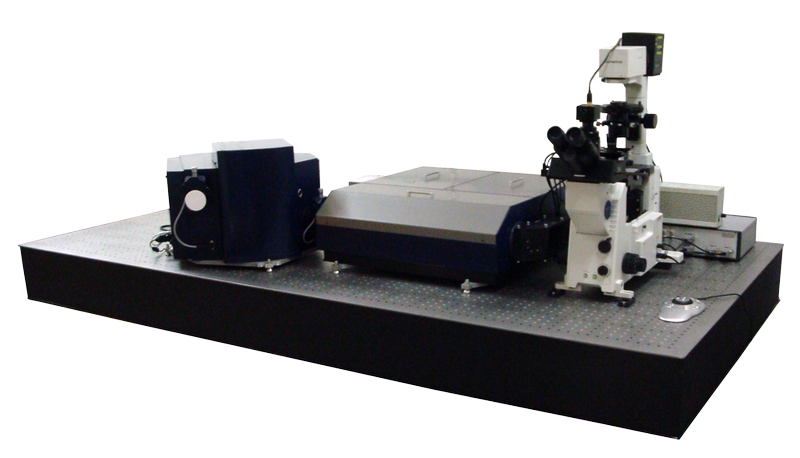 Centaur HR - integrated SPM and high resolution spectrometer, optical and confocal microscopes