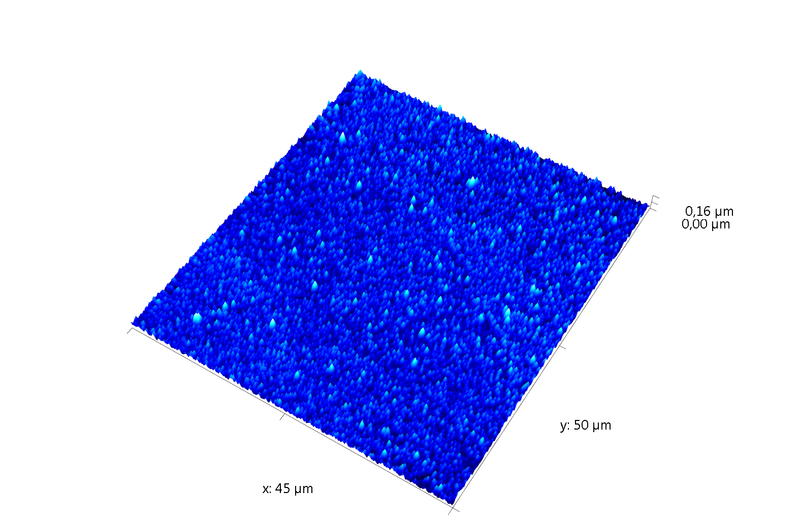 MEMS area. AFM image.Semi-contact mode. Topography 3D.