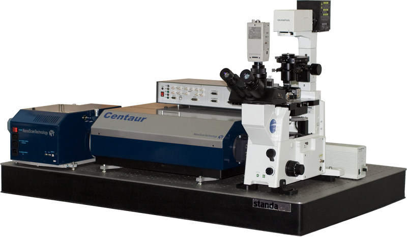 Centaur - integrated  SPM and spectrometer, optical and confocal microscopes
